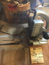 "Wen Model 909 ""all"" saw VINTAGE Aluminum Jigsaw W/ Original Box And Papers WORKS"