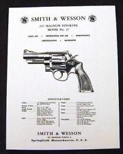 Smith & Wesson .357 Magnum Model 27 Revolver Manual - #SW5