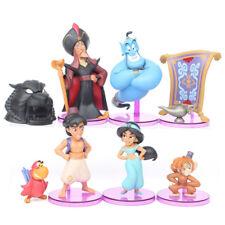 New 8 pcs / Set cartoon Aladdin Genie Jasmine Kid Toy Gift Cake Topper Toppers