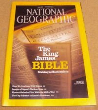National Geographic Magazine December 2011 King James Bible Tiger Clouds City