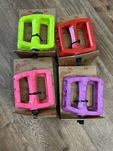 READ Odyssey Bmx Pedals Red, Yellow, Pink, Purple BMX CULT PRIMO SHADOW BMX PEDA