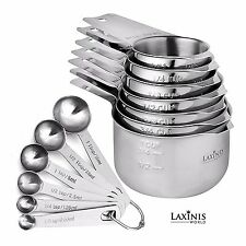 13 Piece Measuring Cups And Spoons Set, Sturdy and Stainless Steel measuring set