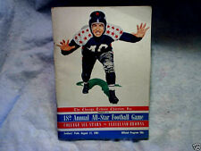 1951 COLLEGE ALL-STARS vs CLEVELAND BROWNS Chicago Soldiers' Field Program nfl