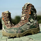 Mens Black Camouflage Army Desert Rubber Combat Military Tactical Comfort  Boots