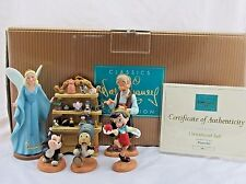 """WDCC """"Ornament Set"""" 6 Piece Limited Ed from Disney's Pinocchio in Box with COA"""