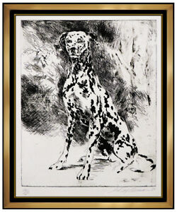LeRoy Neiman Original Dalmatian Serigraph Large Hand Signed Animal Dog Artwork