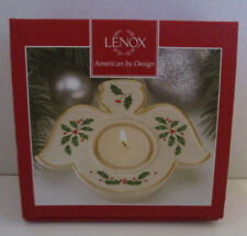 Lenox American by Design Angel Votive Tealight Holder Holly Accents Holiday