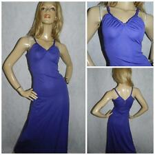 VINTAGE 70s PURPLE MAXI DISCO DRESS 8 1970s EVENING STUDIO 54