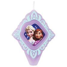 """Wilton FROZEN Elsa Anna BIRTHDAY CANDLE Disney  3 1/4"""" High Party Theme"""