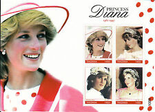 Tanzania 2010 MNH Princess Diana Memorial 4v M/S II 1961-1997 Royalty