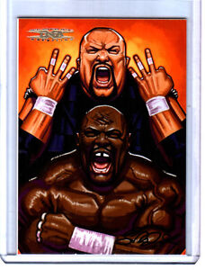 TNA Team 3D #64 2008 Cross The Line GOLD Parallel Card SN 28 of 50