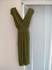 Woman's Green Dress by J. Crew Size M 100% Rayon NWT