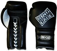 RING TO CAGE Mexican Style GelTech Leather Mesh Palm Training Gloves -Lace-up