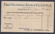 1912 ELLENVILLE NY 1ST NATL BANK OF ELLENVILLE DEPOSIT NOTICE