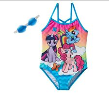 New Toddler Girls MY LITTLE PONY One Piece Swimsuit Bathing Suit Size 4