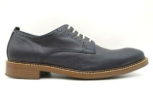 Cole Haan Grand OS Navy Blue Leather Dress Casual Oxfords Shoes Men's 12 M