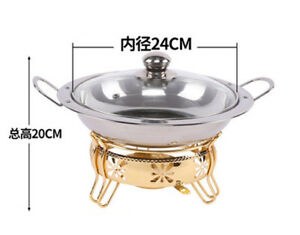 Stainless Steel Buffet Chafing Dish Glass Lid,24cm Chafing Dish Buffer Warmer