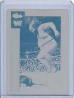 1/1 EARTHQUAKE 1991 CLASSIC PRINTING PRESS CARD PLATE WF WWF WRESTLING 1 of 1