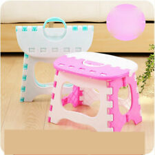 Portable Folding Plastic Stool Kitchen Step Foot Handle Adults Kids Small-Seat