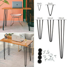 4pcs Heavy Duty Hairpin Table Legs Easy Install for Sofa End Tables Furniture UK