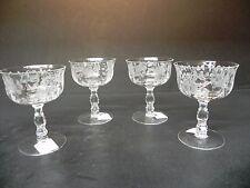 Fostoria Glass Willowmere Roses (set of 4) 6 oz Champagnes  ..