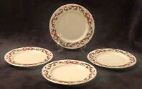 Royal Limited Holly Holiday Accent Salad/Dessert Plates Vintage 1997 Set Of 4