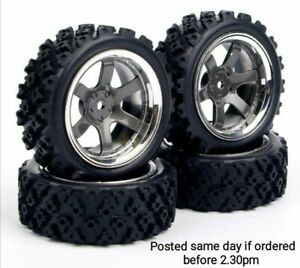 4pcs/set 1:10 RC Rally wheels and Tyres 12mm hex (Tamiya, Kyosho, FTX, HPS, HPI)