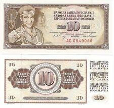 JUGOSLAVIA 10 Dinara 1978 P-87a NEUF NEU UNC FIOR delle banconote