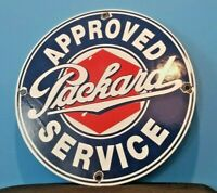 VINTAGE PACKARD PORCELAIN GAS SERVICE STATION AUTOMOBILE DEALERSHIP SALES SIGN