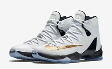 Nike Lebron XIII 13 Elite Basketball- White/Gold-Black 831923-170 Mens Sz 10.5