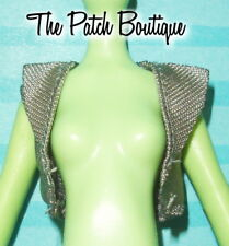 MONSTER HIGH FRANKIE STEIN DOLL REPLACEMENT FASHION OUTFIT GRAY VEST SHIRT