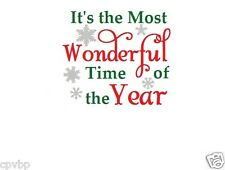 It's the Most Wonderful time of the year Christmas decal sticker for glass block