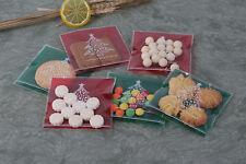 20x Christmas Gift Bags Christmas Tree Treat Lollies Bag Macaron Cookie XMAS DIY