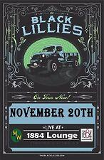 "BLACK LILIES ""ON TOUR NOW"" 2014 MEMPHIS CONCERT POSTER-Americana,Bluegrass Music"