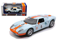 FORD GT GULF LIVERY 1:24 Scale Diecast Toy Car Model Die Cast Racing