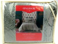 Opalhouse GRAY Ruched Jersey Duvet Set Twin/Twin XL New In Package