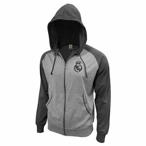 Real Madrid Lightweight Full Zip Hoodie Jacket - Grey