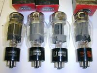 Quad set RCA 6AS7G 6080  Dual Power NOS Triodes - matched -Circa 1960's