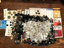 Vintage Button Lot MIXED Old Estate Buttons Sewing Craft Plastic Celluloid,Metal