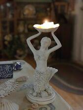 Kneeling Mermaid Figurine Sculpture Plaster Statue Coastal C2C Designs Nwt