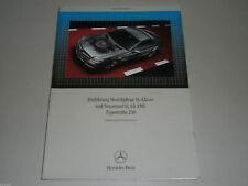 Manuel D'Atelier Lancement Mercedes Benz Soin Du Modèle Sl U. Sl 63 AMG Type 230