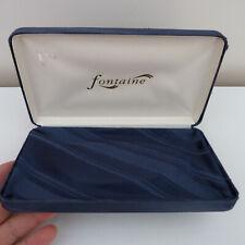 Anne Fontaine jewellery blue satin box, empty
