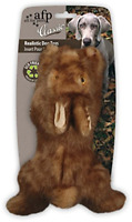 CLASSIC BROWN RABBIT Dog Toy Realistic Squeaker SMALL Eco Friendly