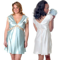 Plus Size Lingerie Sizes 1X 2X 3X 4X 5X 6X Satin Charmeuse Chemise VX4088X
