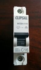 Clipsal Mcb4-116 16a Miniature Circuit Breaker MCB 4.5ka Single Pole Switchboard