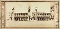 Sommer, Italia Venezia Palazzo Reale, Foto Stereo Vintage Albumina