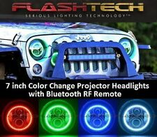 LED 7 Inch Round RGB Color Change HALO Projector Headlights  H6024 H6012 (Pair)