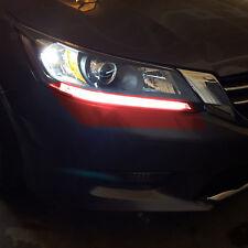 2pc 13+ For Honda Accord Sedan/Coupe RED DRL 6K LED Headlight Strip Light Bulb