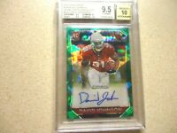 2015 PRIZM ROOKIE AUTO GREEN CRACKED ICE DAVID JOHNSON BGS GRADED 9.5 GEM MINT
