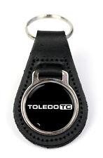 Triumph Toledo TC Logo Quality Black Leather Keyring